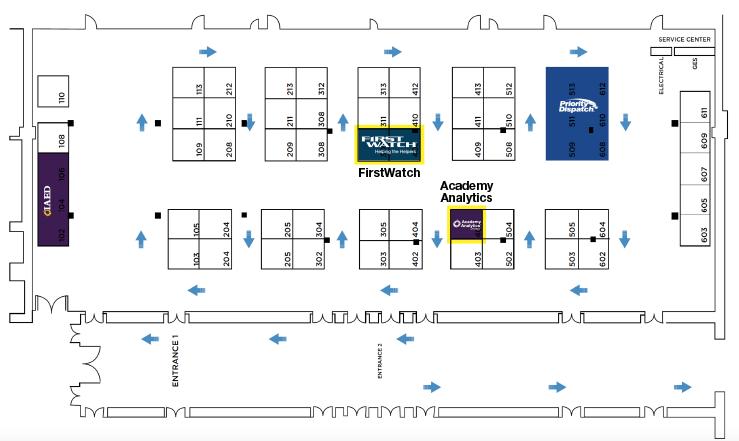 Navigator 2021 Exhibit Hall Map